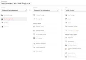 google analytics user access