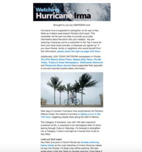 themed newsletters USA Today